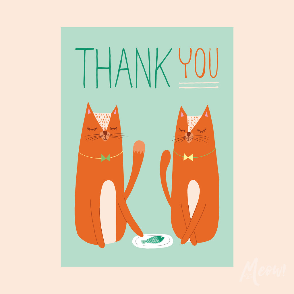 Thank You Cats Card