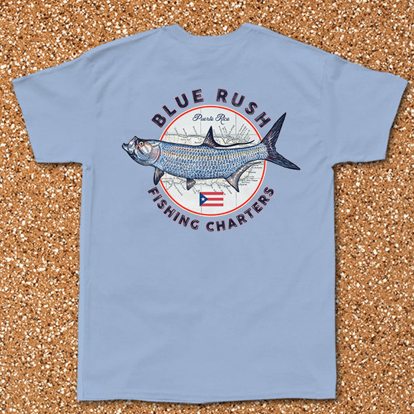 Blue Rush Fishing Charters - Pocket Tee
