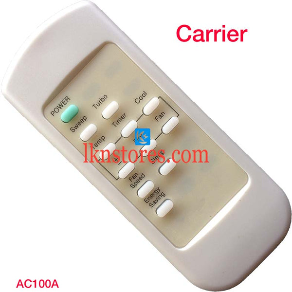CARRIER AC AIR CONDITION REMOTE COMPATIBLE AC100A