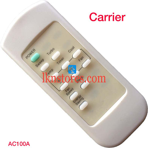 Carrier AC Air Condition remote control