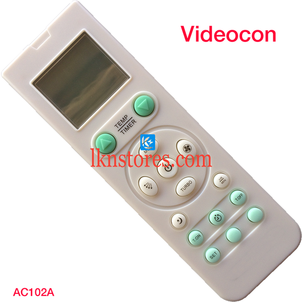 VIDEOCON AC AIR CONDITION REMOTE COMPATIBLE AC102A - LKNSTORES