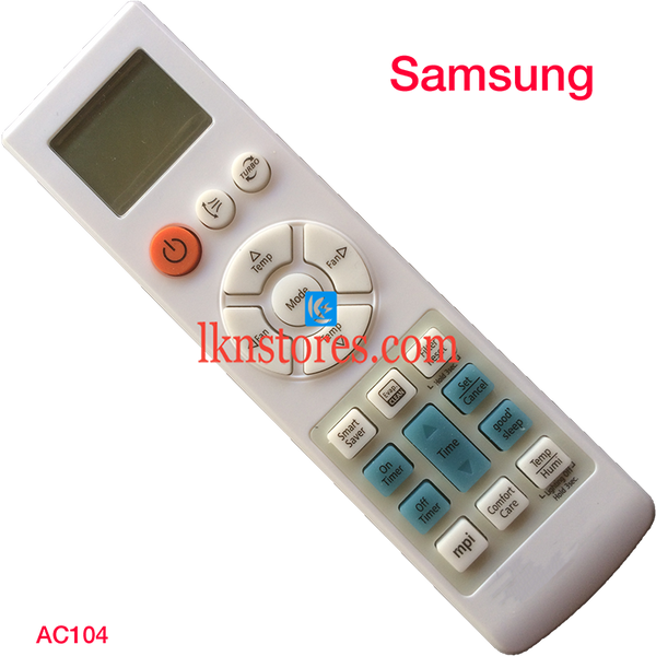 SAMSUNG AC AIR CONDITION REMOTE COMPATIBLE AC104 - LKNSTORES