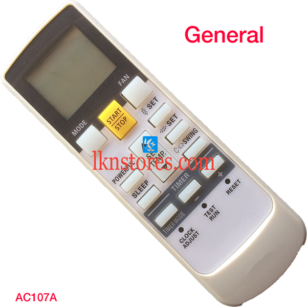 GENERAL POWERFUL AC AIR CONDITION REMOTE COMPATIBLE AC107A - LKNSTORES