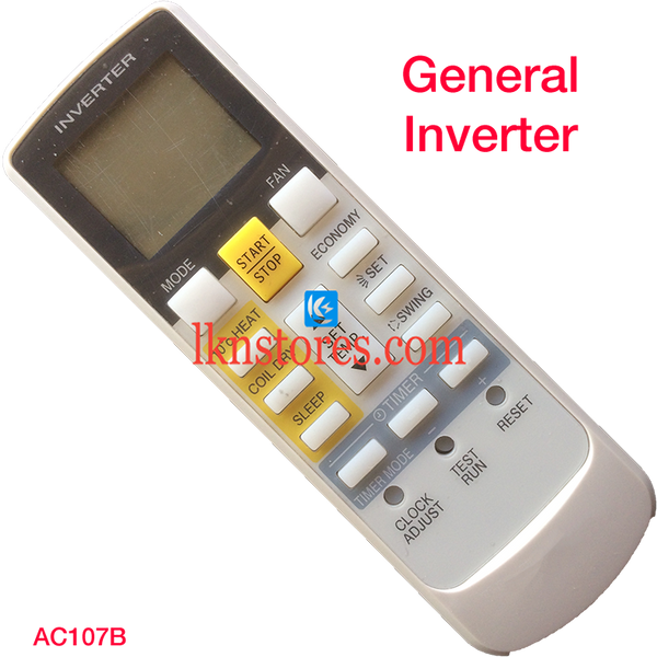 GENERAL INVERTER AC AIR CONDITION REMOTE COMPATIBLE AC107B - LKNSTORES