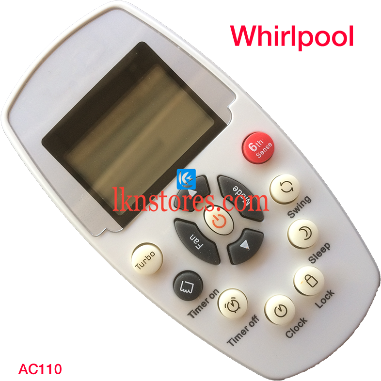 WHIRLPOOL AC AIR CONDITION REMOTE COMPATIBLE AC110