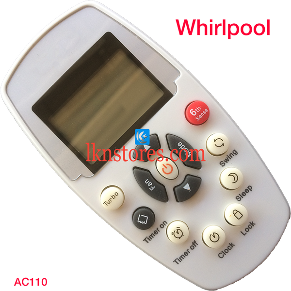 WHIRLPOOL AC AIR CONDITION REMOTE COMPATIBLE AC110 - LKNSTORES