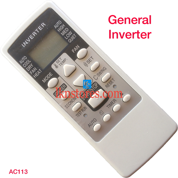 GENERAL INVERTER AC AIR CONDITION REMOTE COMPATIBLE AC113
