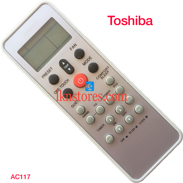 TOSHIBA AC AIR CONDITION REMOTE UNIVERSAL COMPATIBLE AC117
