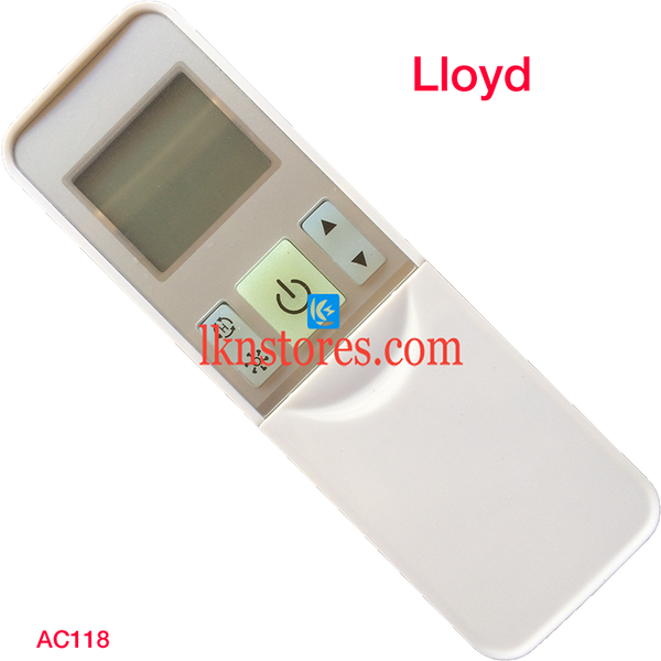 LLOYD AC AIR CONDITION REMOTE COMPATIBLE AC118