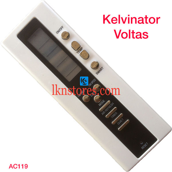 KELVINATOR VOLTAS AC AIR CONDITION REMOTE COMPATIBLE AC119