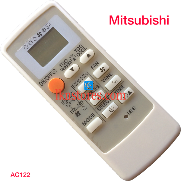 MITSUBISHI AC AIR CONDITION REMOTE COMPATIBLE AC122