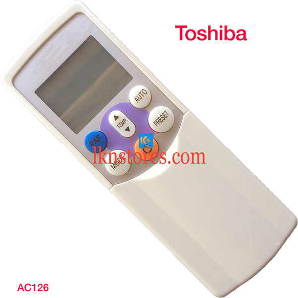 TOSHIBA AC AIR CONDITION REMOTE COMPATIBLE AC126
