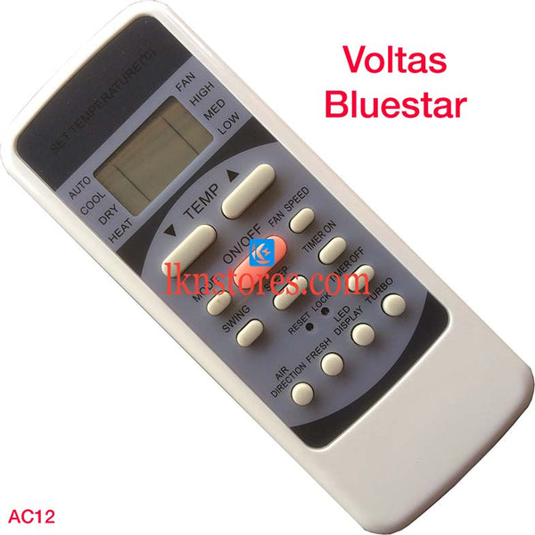 VOLTAS BLUESTAR AC AIR CONDITION REMOTE COMPATIBLE AC12 - LKNSTORES