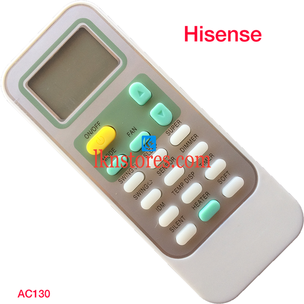 HISENSE AC AIR CONDITION REMOTE COMPATIBLE AC130 - LKNSTORES