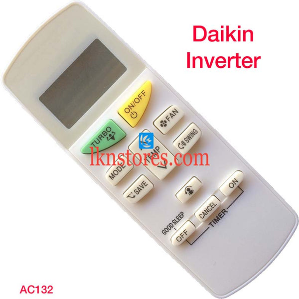 DAIKIN INVERTER AC AIR CONDITION REMOTE COMPATIBLE AC132