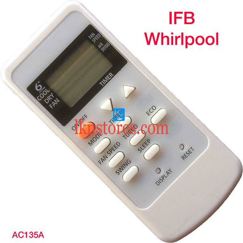 IFB WHIRLPOOL AC AIR CONDITION REMOTE COMPATIBLE AC135A