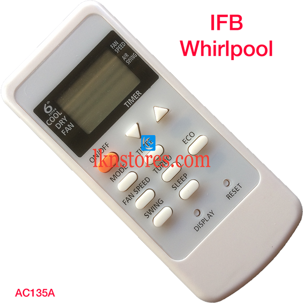 IFB WHIRLPOOL AC AIR CONDITION REMOTE COMPATIBLE AC135A - LKNSTORES