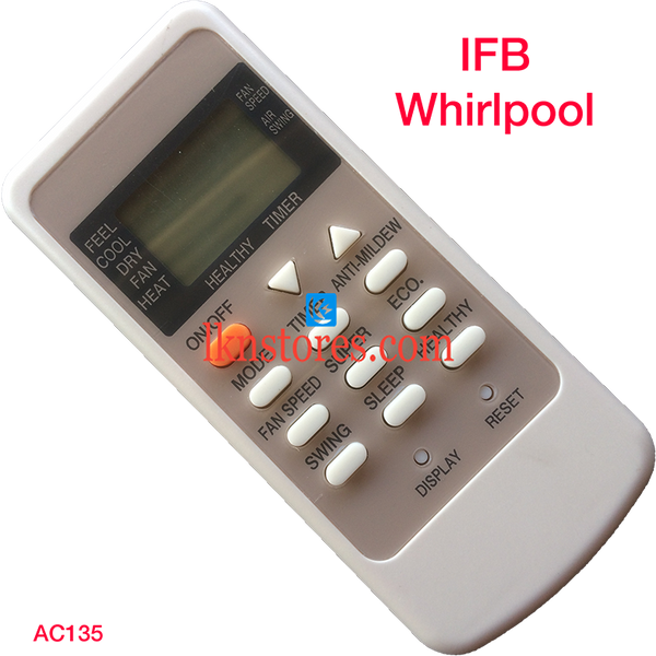 IFB WHIRLPOOL AC AIR CONDITION REMOTE COMPATIBLE AC135 - LKNSTORES