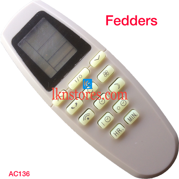 FEDDERS AC AIR CONDITION REMOTE COMPATIBLE AC136 - LKNSTORES
