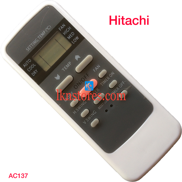 HITACHI AC AIR CONDITION REMOTE COMPATIBLE AC137 - LKNSTORES