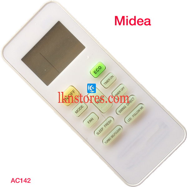 MIDEA AC AIR CONDITION REMOTE COMPATIBLE AC142 - LKNSTORES