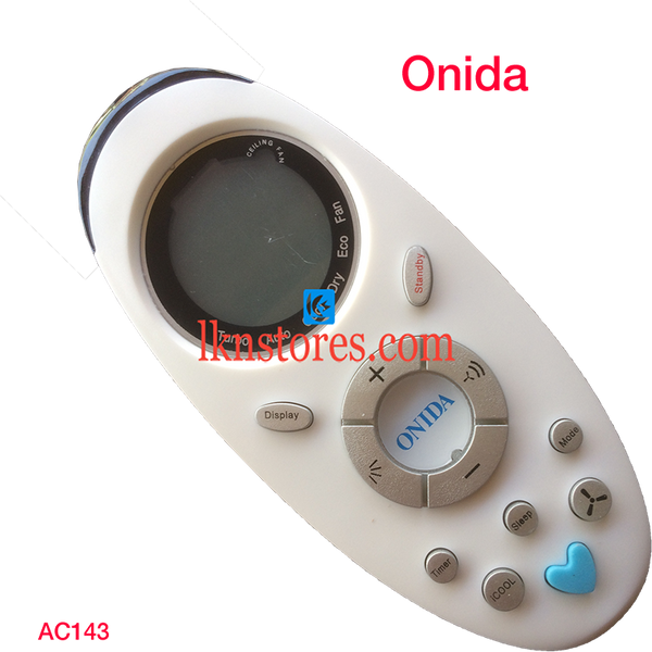 ONIDA AC AIR CONDITION REMOTE DISPLAY COMPATIBLE AC143a