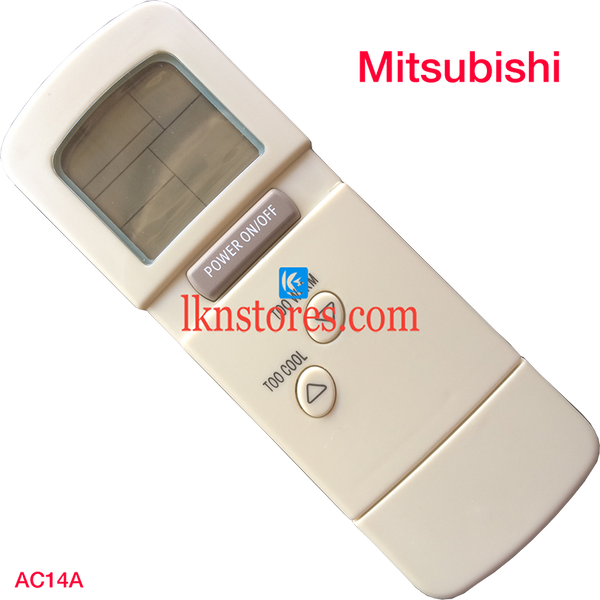 MITSUBISHI AC AIR CONDITION REMOTE COMPATIBLE AC14A - LKNSTORES