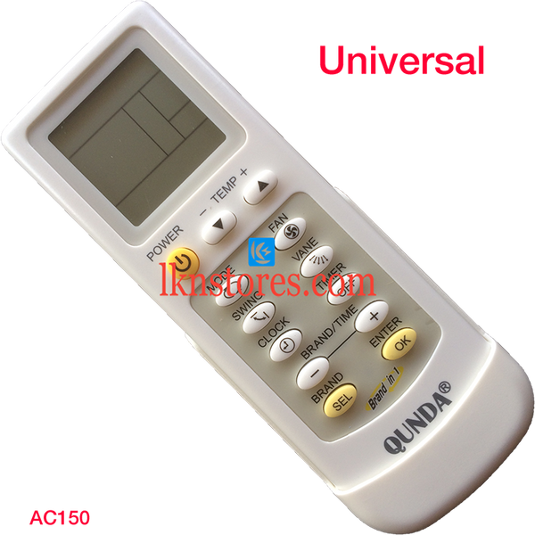 UNIVERSAL AC AIR CONDITION REMOTE COMPATIBLE AC150 - LKNSTORES