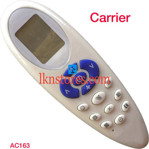 CARRIER AC AIR CONDITION REMOTE COMPATIBLE AC163 - LKNSTORES