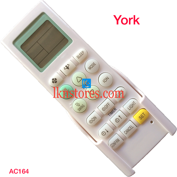 YORK AC UNIVERSAL AC AIR CONDITION REMOTE COMPATIBLE AC164 - LKNSTORES