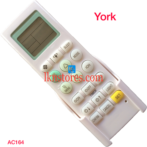 York AC Air Condition remote control