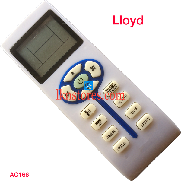 LLOYD AC AIR CONDITION REMOTE COMPATIBLE AC166 - LKNSTORES