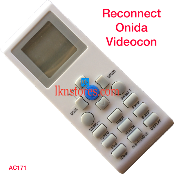 RECONNECT ONIDA VIDEOCON AC AIR CONDITION REMOTE COMPATIBLE AC171 - LKNSTORES