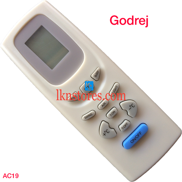 GODREJ AC AIR CONDITION REMOTE COMPATIBLE AC19
