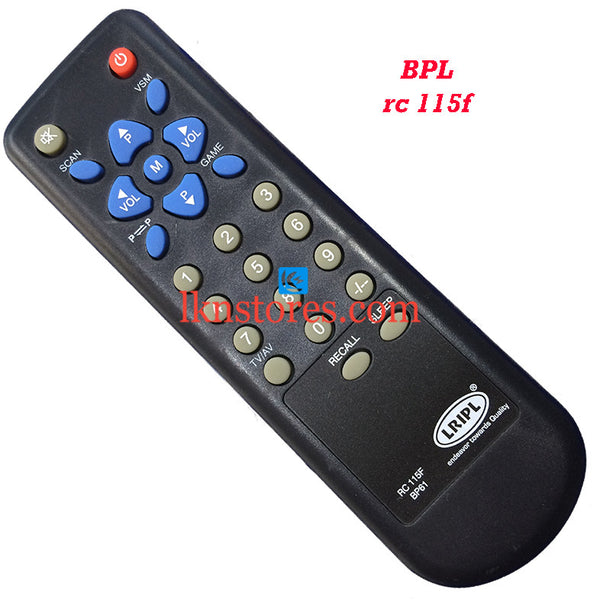 BPL RC 115F replacement remote control - LKNSTORES