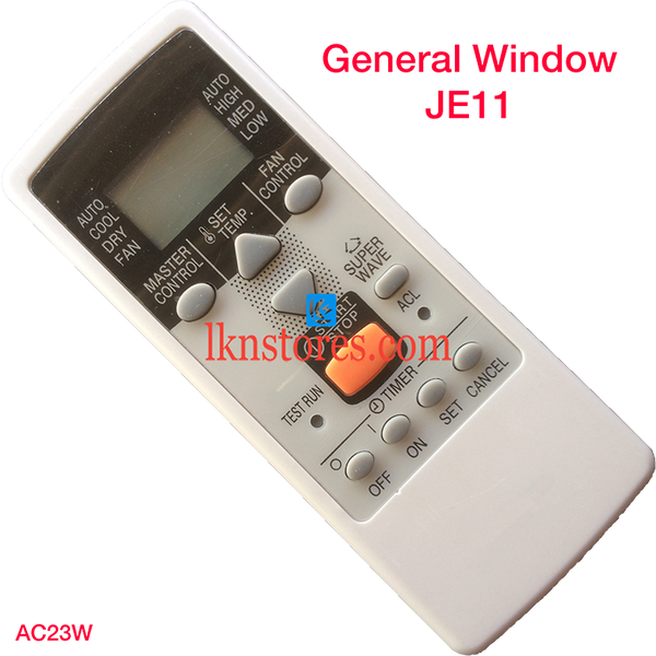 GENERAL AC AIR CONDITION REMOTE WINDOW JE11 COMPATIBLE AC23W