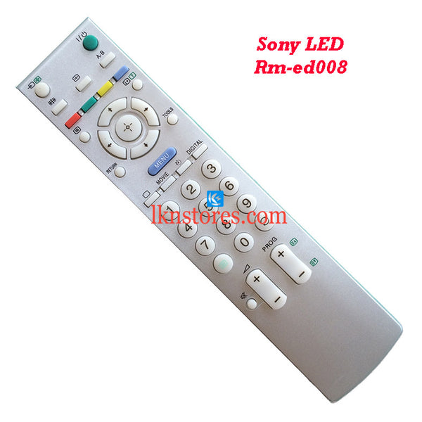 Sony RM ED008 LCD replacement remote control - LKNSTORES