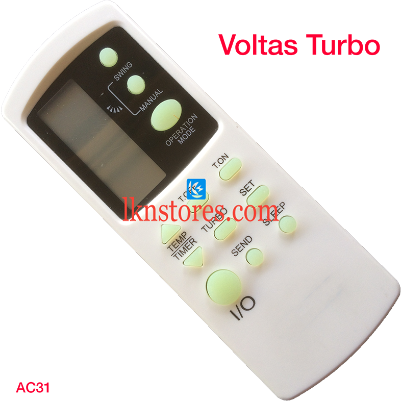 VOLTAS AC AIR CONDITION REMOTE TURBO COMPATIBLE AC31