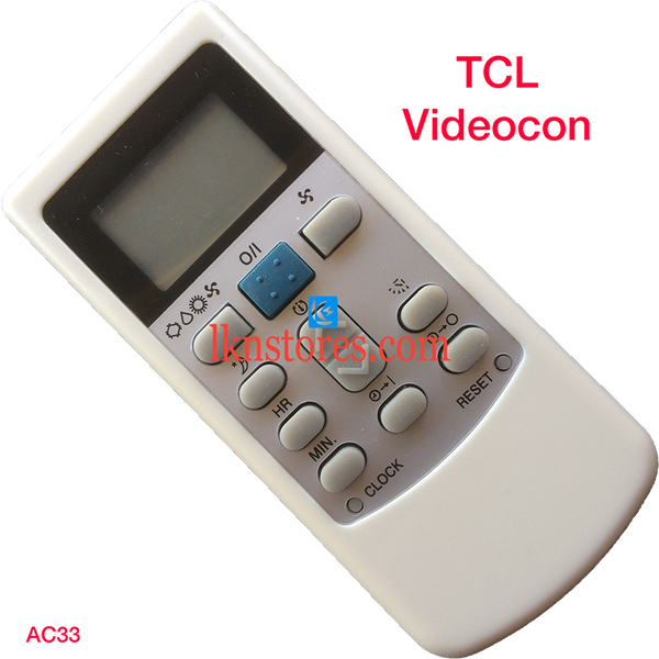 TCL VIDEOCON AC AIR CONDITION REMOTE COMPATIBLE AC33