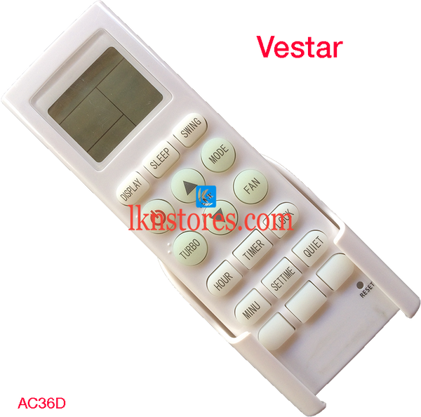 VESTAR AC AIR CONDITION REMOTE COMPATIBLE AC36D - LKNSTORES