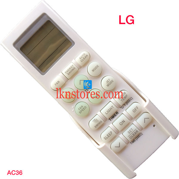 LG AC AIR CONDITION REMOTE COMPATIBLE AC36 - LKNSTORES