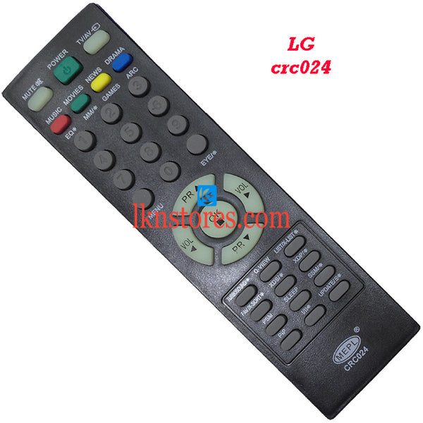 LG CRC 024 replacement remote control - LKNSTORES