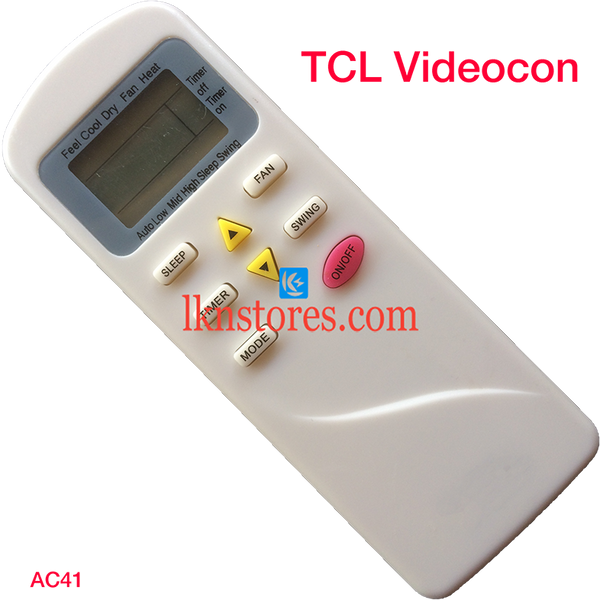 TCL VIDEOCON AC AIR CONDITION REMOTE COMPATIBLE AC41
