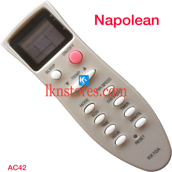 NAPOLEAN AC AIR CONDITION REMOTE COMPATIBLE AC42