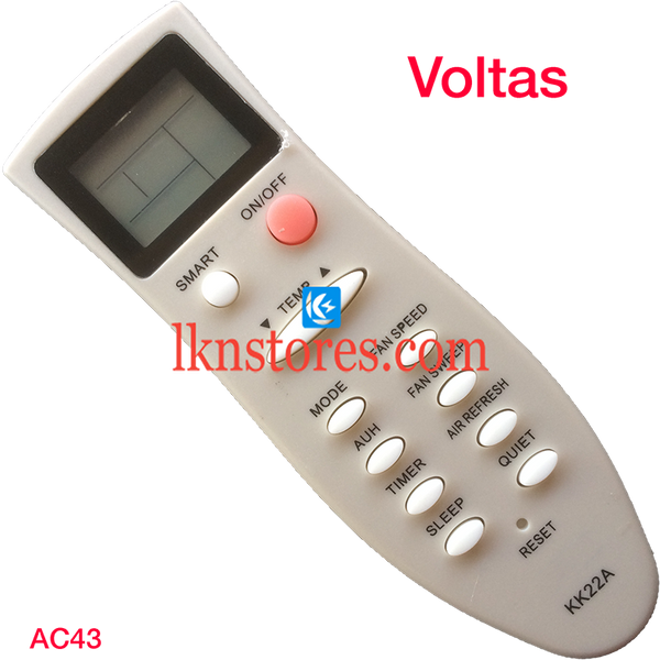 VOLTAS AC AIR CONDITION REMOTE COMPATIBLE AC43 - LKNSTORES