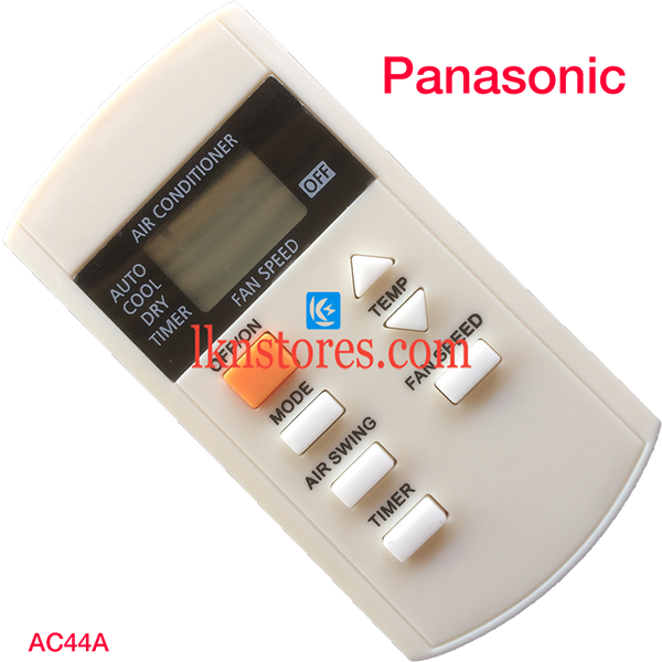 PANASONIC AC AIR CONDITION REMOTE 7 BUTTONS COMPATIBLE AC44A - LKNSTORES