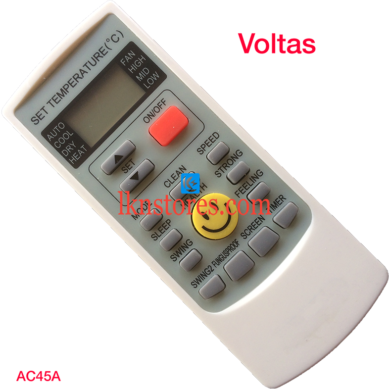 VOLTAS AC AIR CONDITION REMOTE COMPATIBLE AC45A
