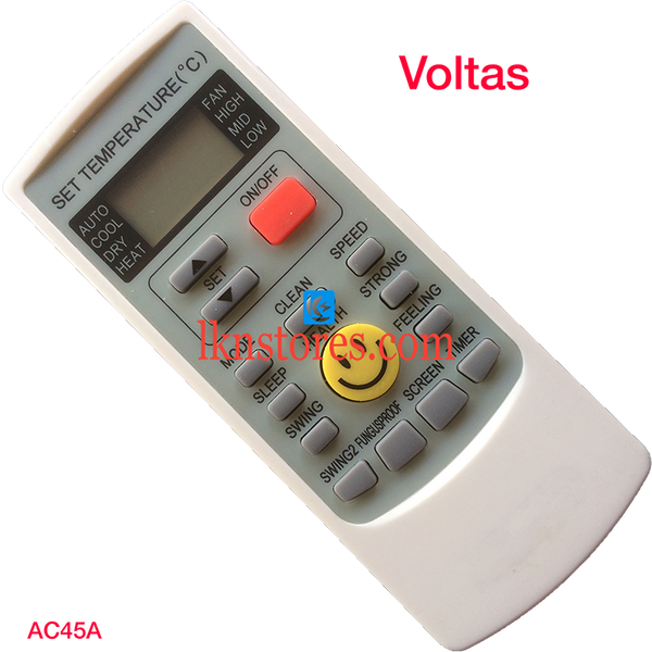 VOLTAS AC AIR CONDITION REMOTE COMPATIBLE AC45A - LKNSTORES