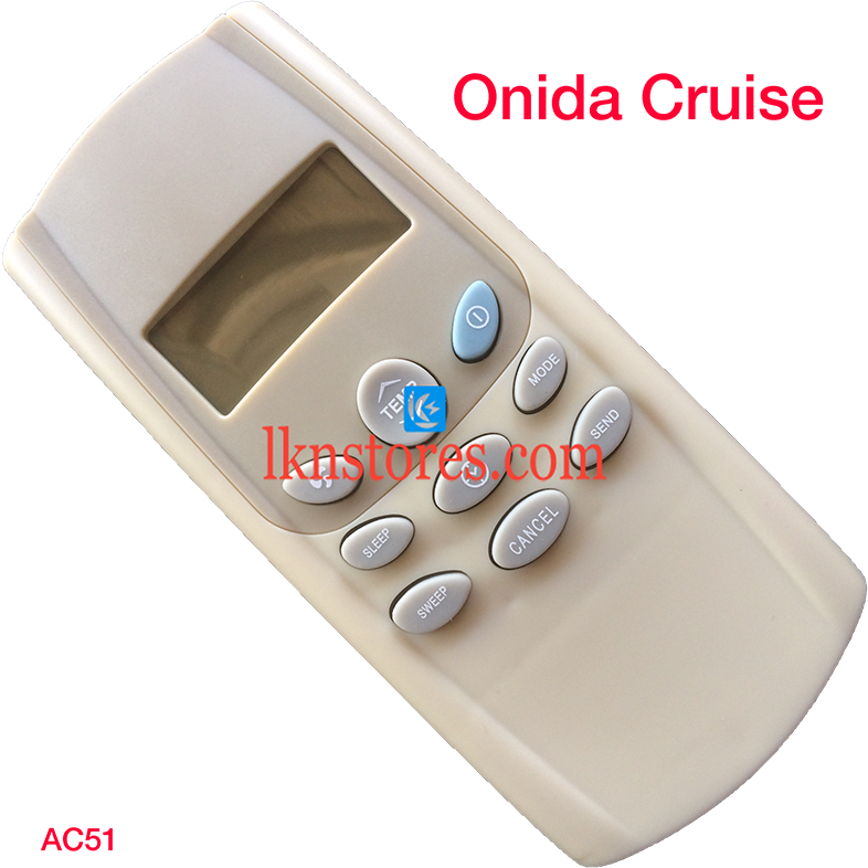 ONIDA AC AIR CONDITION REMOTE CRUISE COMPATIBLE AC51
