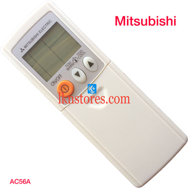 MITSUBISHI AC AIR CONDITION REMOTE WHITE 3 BUTTONS COMPATIBLE AC56A